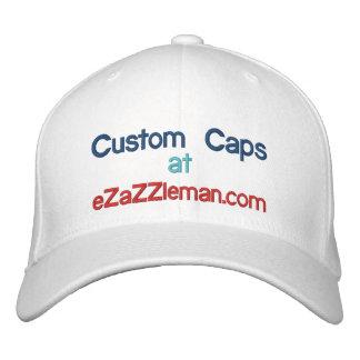 Custom Caps @, eZaZZleman.com Embroidered Baseball Cap