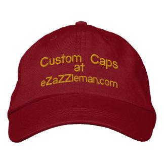 Custom Caps @, eZaZZleman.com Embroidered Baseball Caps