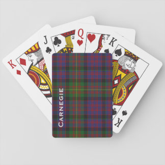 Custom Carnegie Tartan Plaid Playing Card Deck