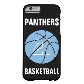 Custom Carolina Blue Basketball Number & Team Case Barely There iPhone 6 Case