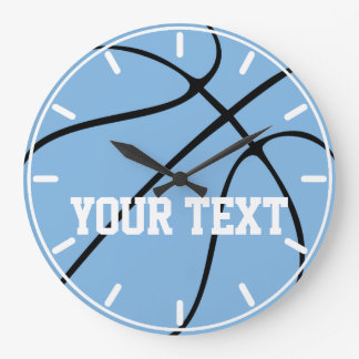 Custom Carolina Blue / Light Blue Basketball Clock