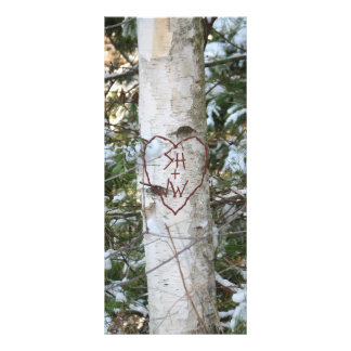 Custom Carved Birch Tree Bookmark Rack Card