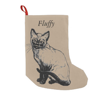 Custom cat Christmas stocking -add your cat's name