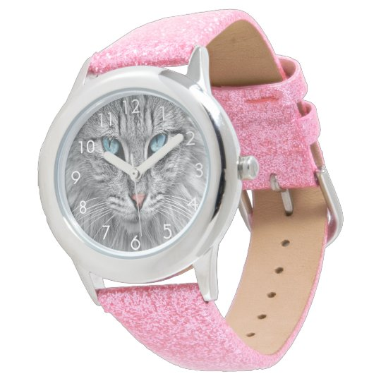 Custom cat kitty dog pet photo watch