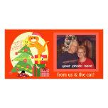 Custom Cat Lover  Christmas Photo Card