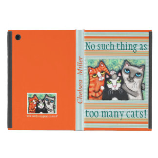 Custom Cat Lover's Cat Art iPad Mini Case