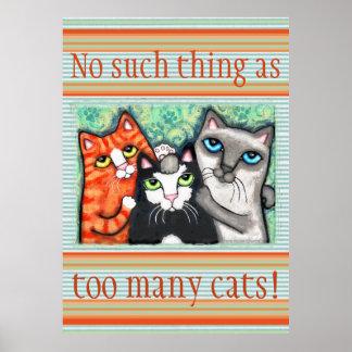 Custom Cat Lover's Cat Art Poster Print