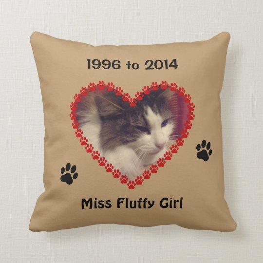 Custom cat paw prints your photo memorial brown