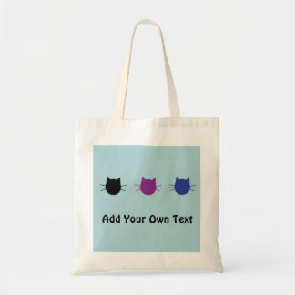 Custom Cats Modern Graphic Design Tote Bag