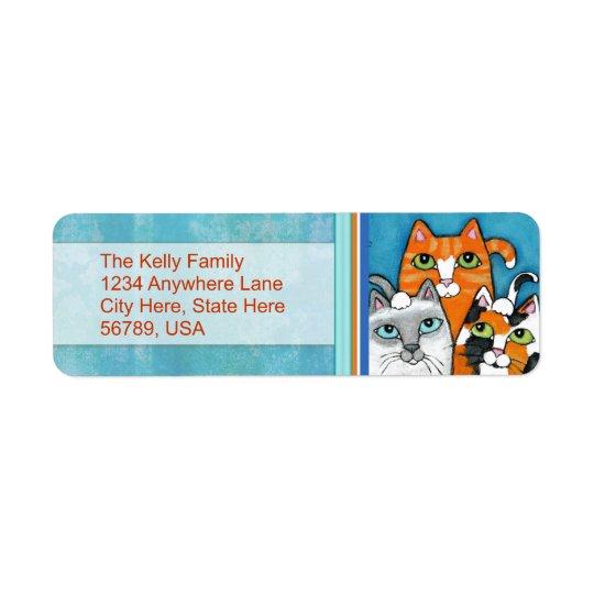 Custom Cats Return Address Labels