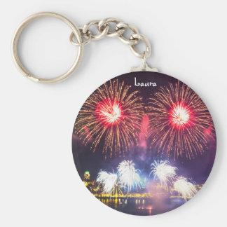 Custom Celebration Fireworks Key Ring