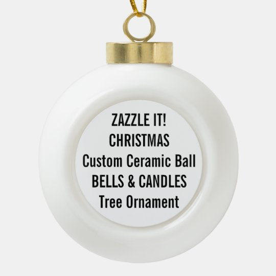 Custom Ceramic Ball Christmas Tree Ornament
