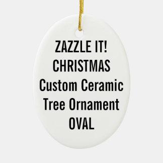 Custom Ceramic OVAL Christmas Tree Ornament