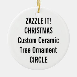 Custom Ceramic ROUND Christmas Tree Ornament