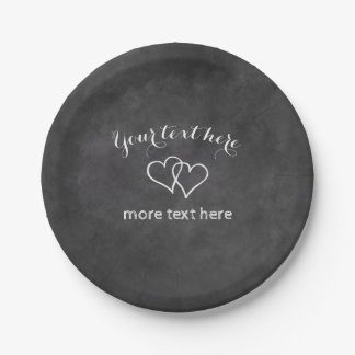 Custom chalkboard paper plates for wedding party 7 inch paper plate