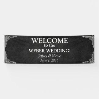 Custom Chalkboard Wedding Banner