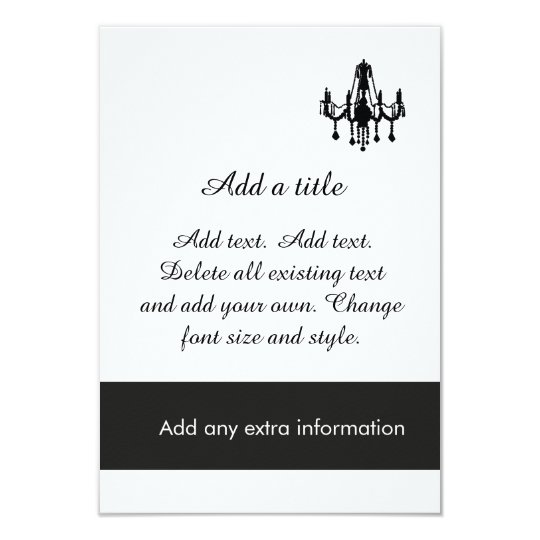Custom Chandelier Formal Evening Party Invitation