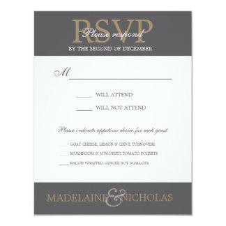 Custom charcoal modern wedding RSVP Card