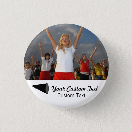 Custom Cheerleading Photo Team Spirit 3 Cm Round