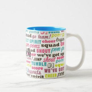 Custom Cheerleading Sayings Coffee or Tea Team Mug