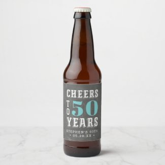 Custom Cheers Milestone Birthday Beer Bottle Label