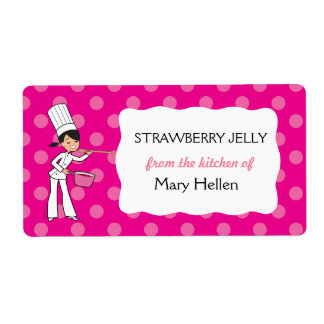 """Custom Chef Adhesive Label """"From the Kitchen"""""""