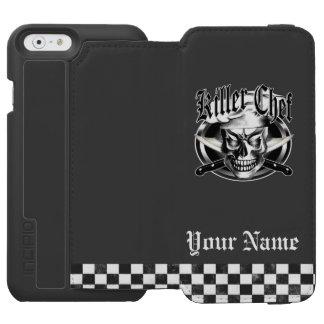 Custom Chef Skull with Crossed Knives: Killer Chef Incipio Watson™ iPhone 6 Wallet Case