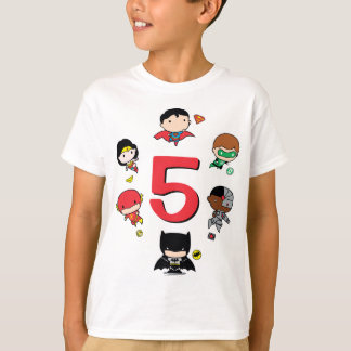 Custom Chibi Justice League Birthday T-Shirt