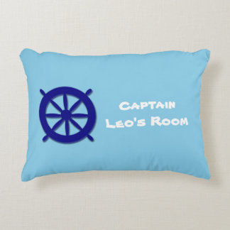 Custom Children's Bedroom Blue Nautical Decorative Cushion