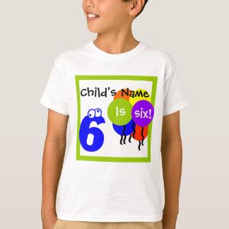 "custom child's shirt: fill in name ""is 6"" birthday tee shirts"