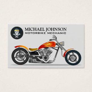 Custom Chopper | Motorbike | Motorcycle Repair Business Card