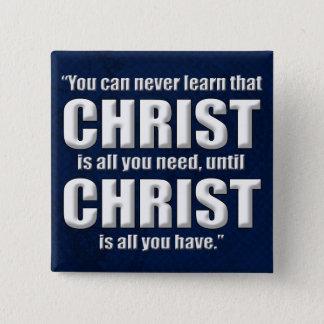 Custom Christian Gift, Retro 15 Cm Square Badge