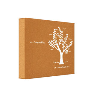 Custom Christian Gifts - Scripture Family Tree Gallery Wrapped Canvas