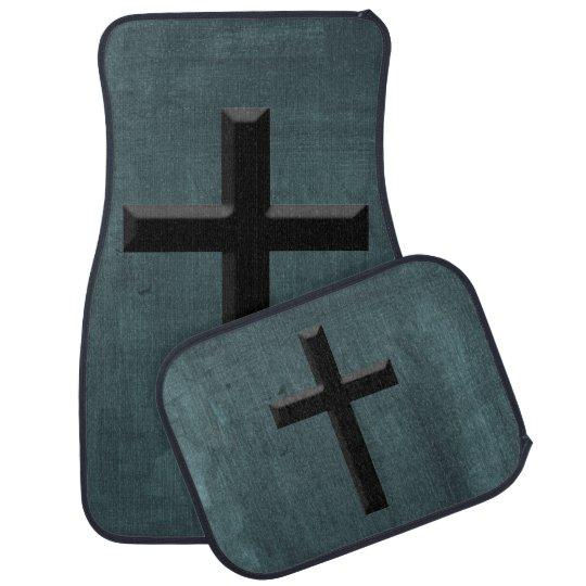Custom Christian God Gift Cross Car Mat Zazzle Co Uk