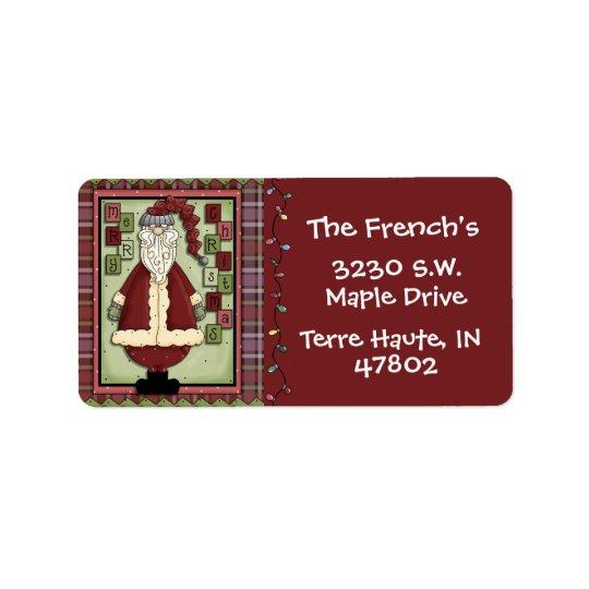 Custom Christmas Address Label
