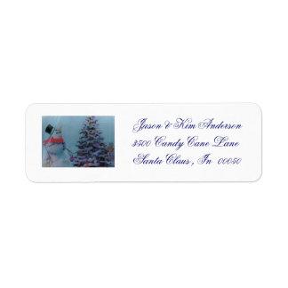 CUSTOM CHRISTMAS ADDRESS  Label Return Address Label
