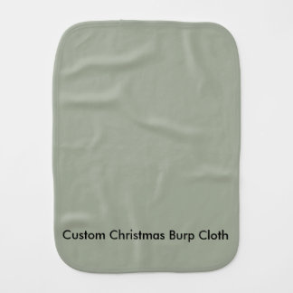 Custom Christmas Burp Cloth