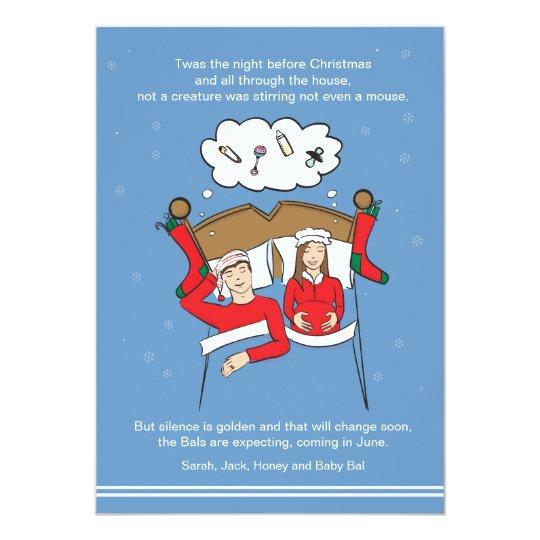 CUSTOM Christmas Card Pregnancy Announcement