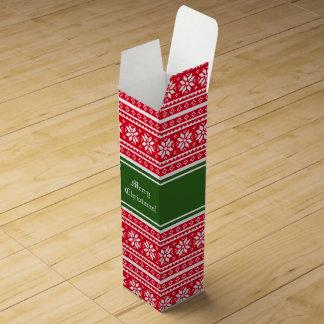 Custom Christmas cardboard wine bottle gift boxes