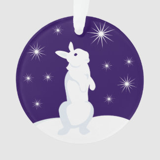 Custom Christmas Circle Ornament Rabbit