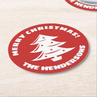 Custom Christmas coasters with xmas tree logo