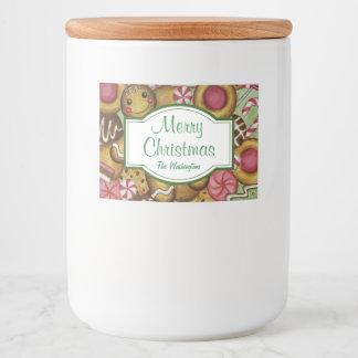 Custom Christmas Cookies Jar Food Stickers Labels