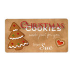 Custom Christmas Cookies Just for You Labels