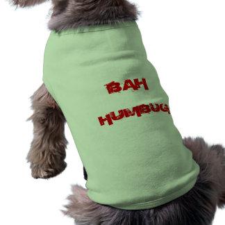 Custom Christmas Dog Bah Humbug Puppy Dog Sweater Doggie Tee Shirt