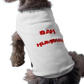 Custom Christmas Dog Bah Humbug Puppy Dog Sweater  Sleeveless Dog Shirt
