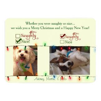 Custom Christmas Dog Card 13 Cm X 18 Cm Invitation Card