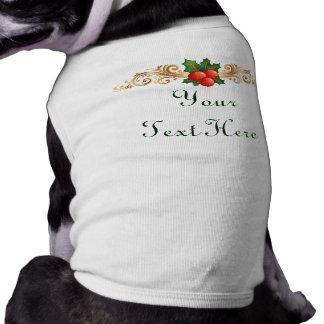 Custom Christmas Dog t-shirt