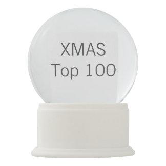 Custom Christmas Faux WHITE ONYX Snow Globe