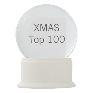 Custom Christmas Faux WHITE ONYX Snow Globe Snow Globes