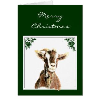 Custom Christmas Get your Goat, Humor Greeting Card